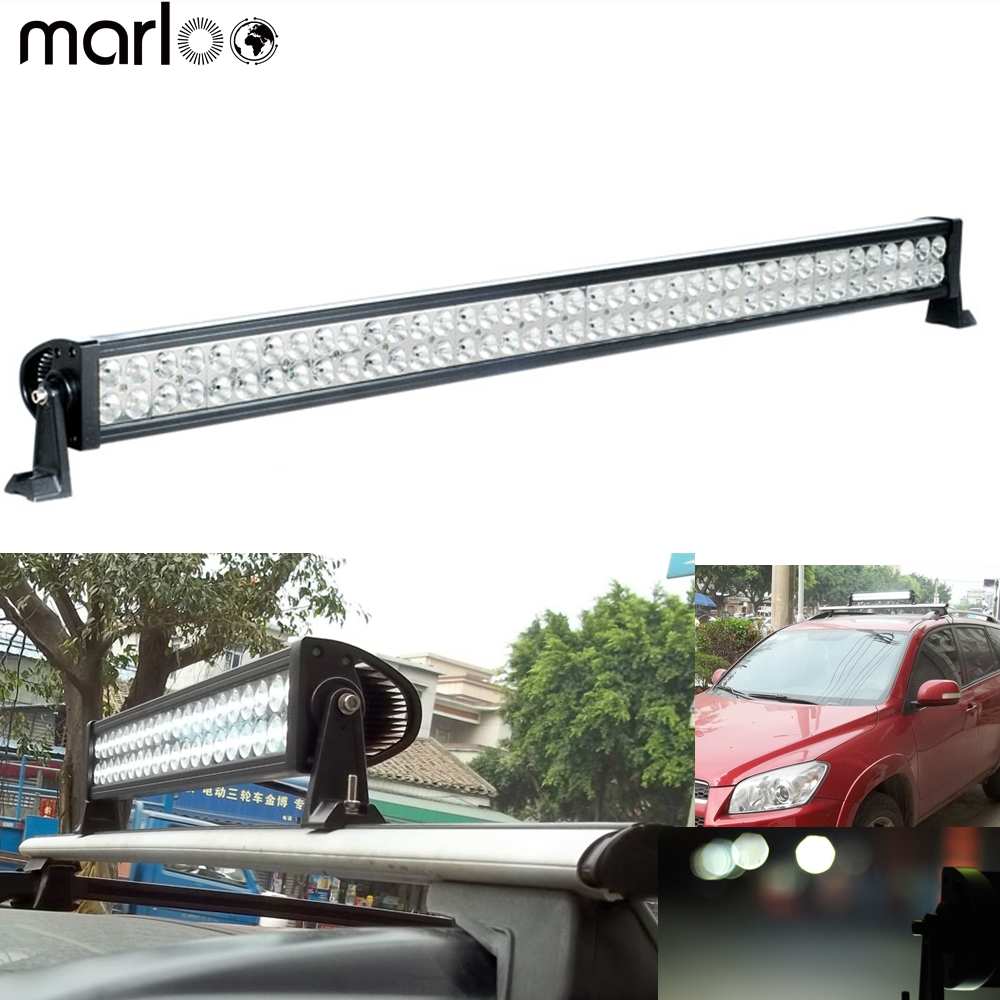 Marloo 40 42 inch LED Light Bar 240W Offroad Work Light For Car Truck Trailer Boat Jeep Tractor Fog Lamp 4WD SUV Led Light laser anti collision security system defense system fog light warning light for car motor truck tractor in rain fog and haze
