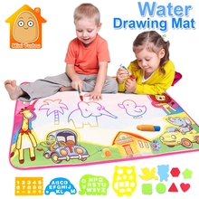 86*57CM Magic Water Drawing Mat Doodle Water Pen Drawing Board Coloring Water Painting Games Educational Toy Kids Crafts