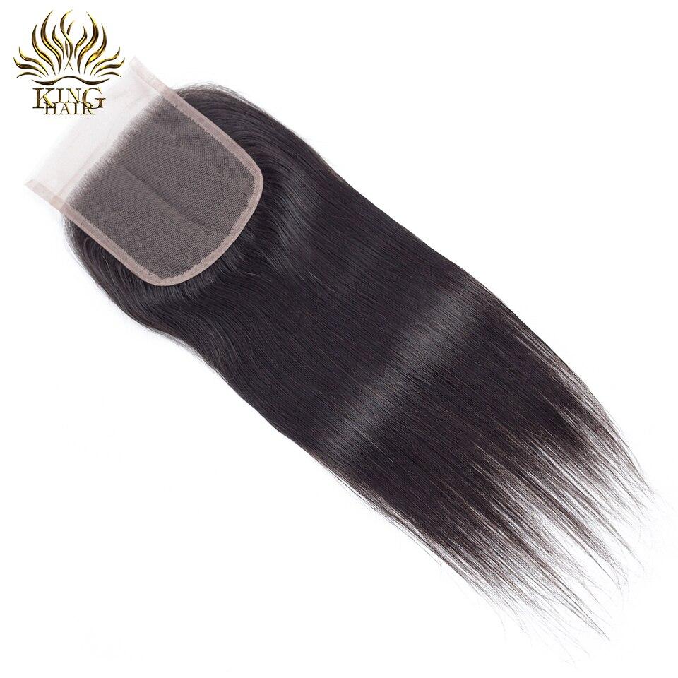 Cheveux russes Brésiliens Fermeture en dentelle droite Fermeture de - Cheveux humains (noir) - Photo 3