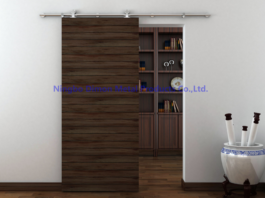 Купить с кэшбэком Dimon customized SUS 304 sliding door hardware wood sliding door hardware America style sliding door hardware DM-SDS 7101