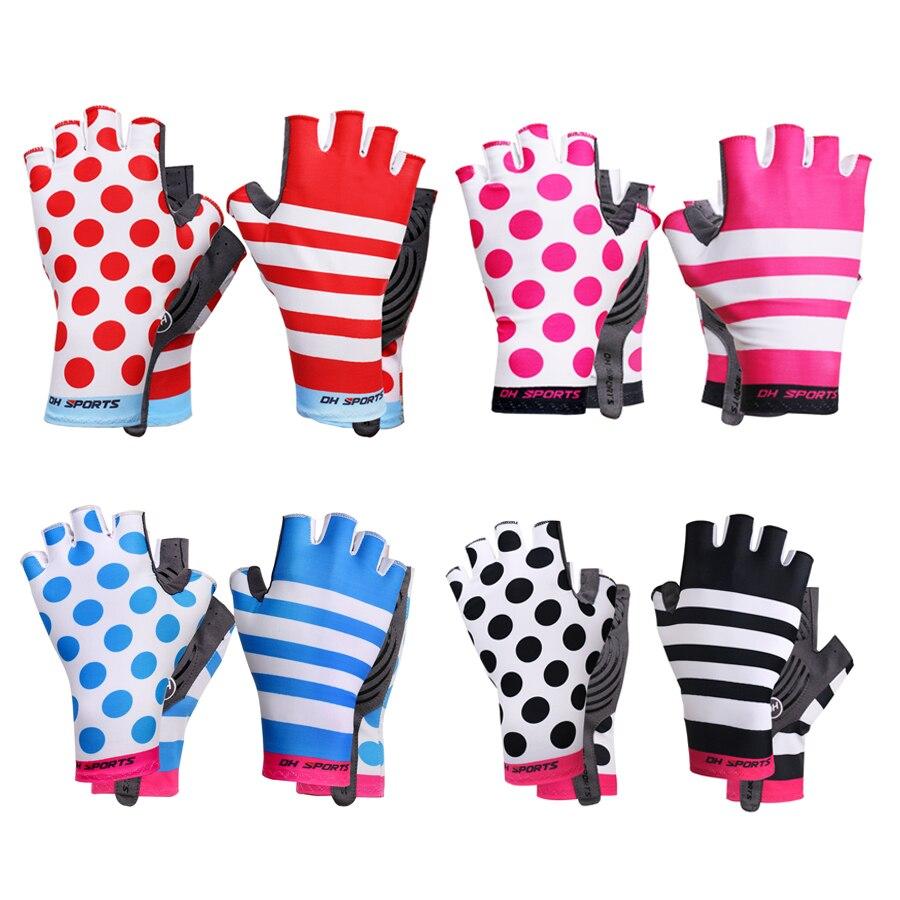 Dh Sport Radfahren Handschuhe Half Finger Bike Handschuhe Stoßfest Atmungs Berg Fahrrad Handschuh Männer Individualität Radfahren Kleidung