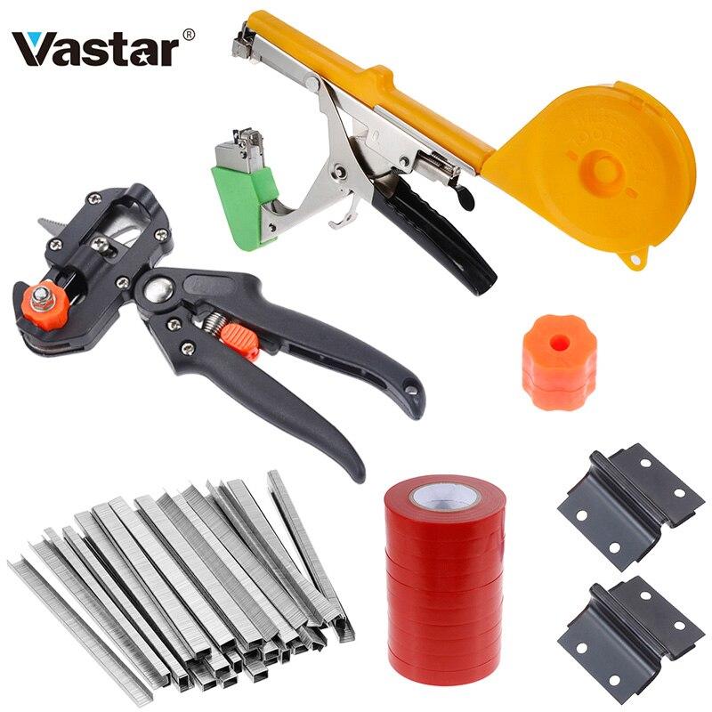 Vastar Garden Tool Plant Tying Tapetool Tapener Machine Branch Hand Tying Machine Vegetable Stem StrappingGrafting Scissors Tool