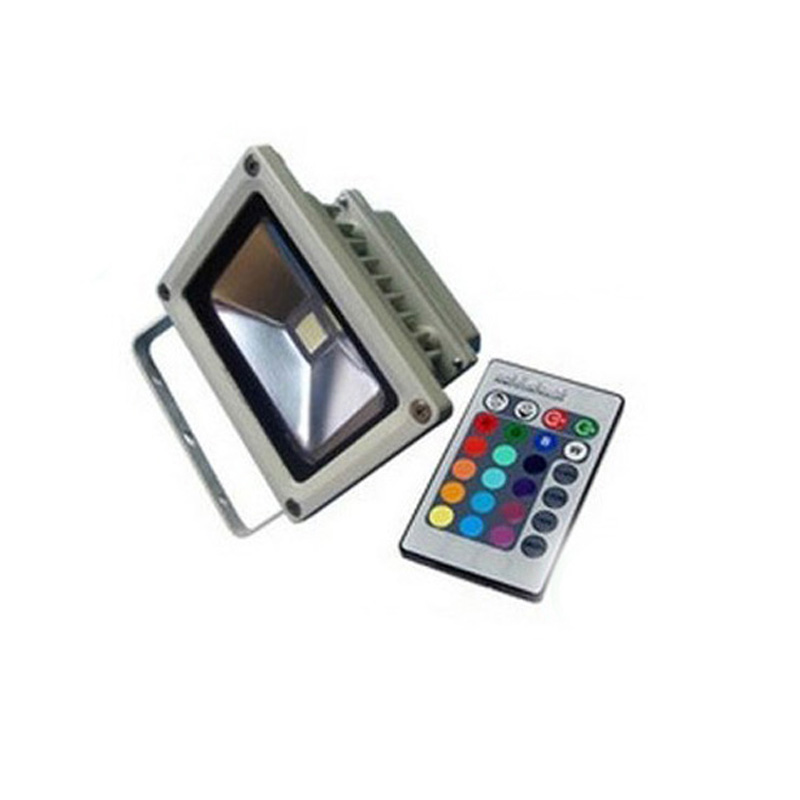 10X wholesale high quality 10W RGB led flood light with IR remote control express free shipping