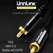 цена на Unnlink HiFi 5.1 RCA to RCA Male SPDIF Coaxial Cable Stereo Audio Cable Cord 3m 5m Video Cable for TV Amplifier Speaker Soundbar