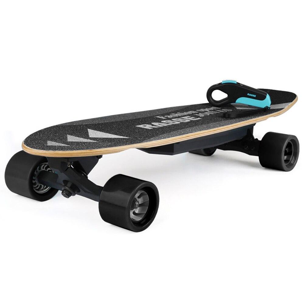 Nouveau Skateboard à quatre roues à plat planche à roulettes à entraînement unique petit poisson Version 3 & 4 noir bleu EU plug7-Layer planche à roulettes en érable