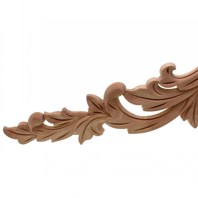 RUNBAZEF Floral Wood Carved Corner Applique Wooden Carving Decal  Furniture Cabinet Door Frame Wall Home Decoration Accessories 4