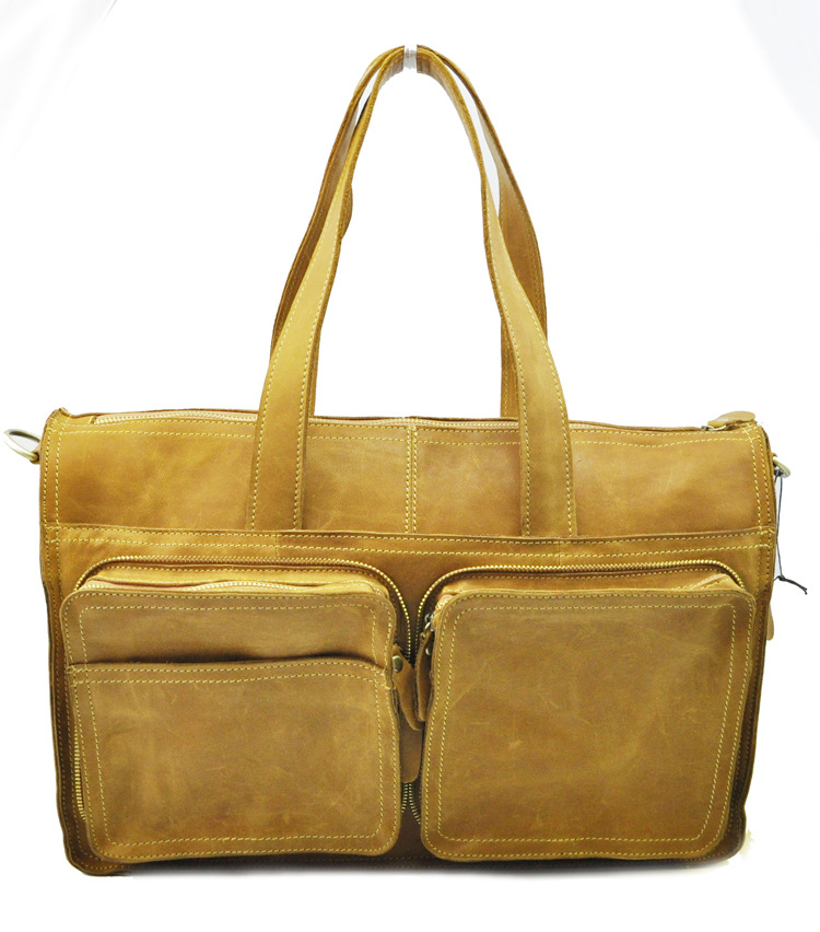 Wear Resistance  Leather Shoulder Bag Men Bag Western Style Retro Men