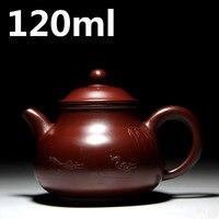 Chinese Handmade Tea Pot 120ml Ceramic Purple Clay Mud Tea Set Yixing Sand Teapots Kung Fu Porcelain Kettle Tea Ceremony