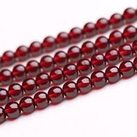 Jinse الحجر الطبيعي الظلام الأحمر العقيق جولة فضفاض الخرز 5 6 ملليمتر اختيار حجم للمجوهرات ديي صنع YYL001