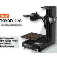 EcubMaker ToyDIY 4in1 3D printer / FDM/LASER/CNC /from RU|3D Printers|Computer & Office -