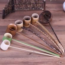 Водопроводная ложка с длинной ручкой, Бамбуковая карбонизированная, Бамбуковая, аксессуары для чая, Черпак поварешка для воды, чайные инструменты для кунг-фу