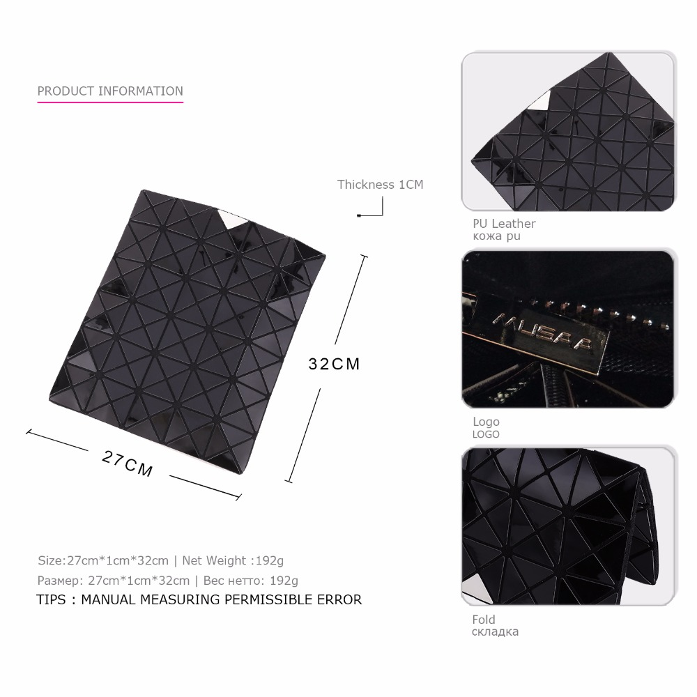 7e51a4354363 US $35.99  MUSAA Black Diamond Folding Clutch Bags for Girl Personality  Fashion Refreshing Female Women PU Leather Bag New Collection-in Clutches  from ...