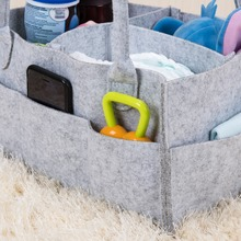 ANHO Storage Bag Baby Diaper Caddy Foldable Organizer Portable Kids Doll Car Clothes Storage Basket Toys Box Handbag Travel