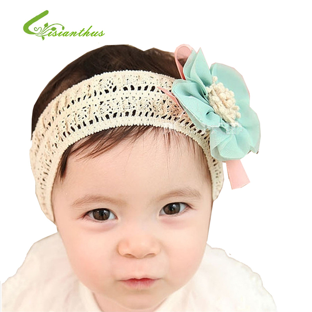 MOQ 1 Piece Chiffon Flower Hair Band Lace Child Wig Hair Band Baby Hair Accessory Hair Band Baby Headband Free Shipping TF008