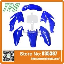 6BLUE * 1 БЕЛЫЙ Пластик Обтекателя Fender Комплект CRF50 110cc 125cc 140cc НДФЛ PRO Trail Байк