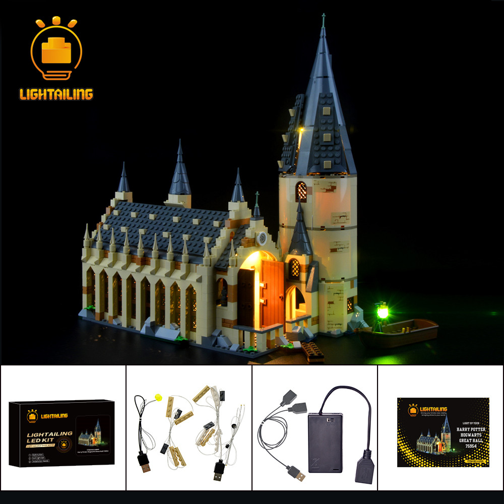 LIGHTAILING Led Light Up Kit For Hogwarts Great Hall Light Set Compatible With 75954 (NOT Include Model)