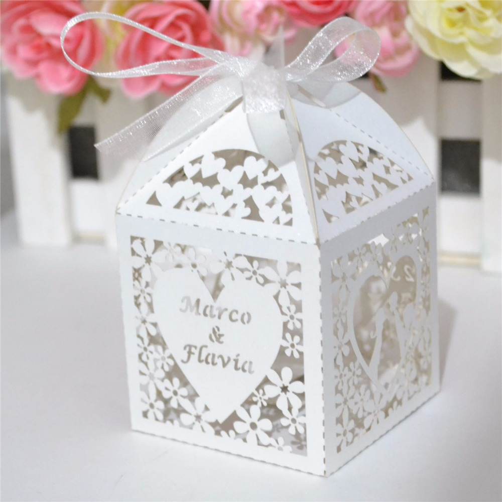 Wedding giveaway gifts for guests, wedding favor box personalized ...