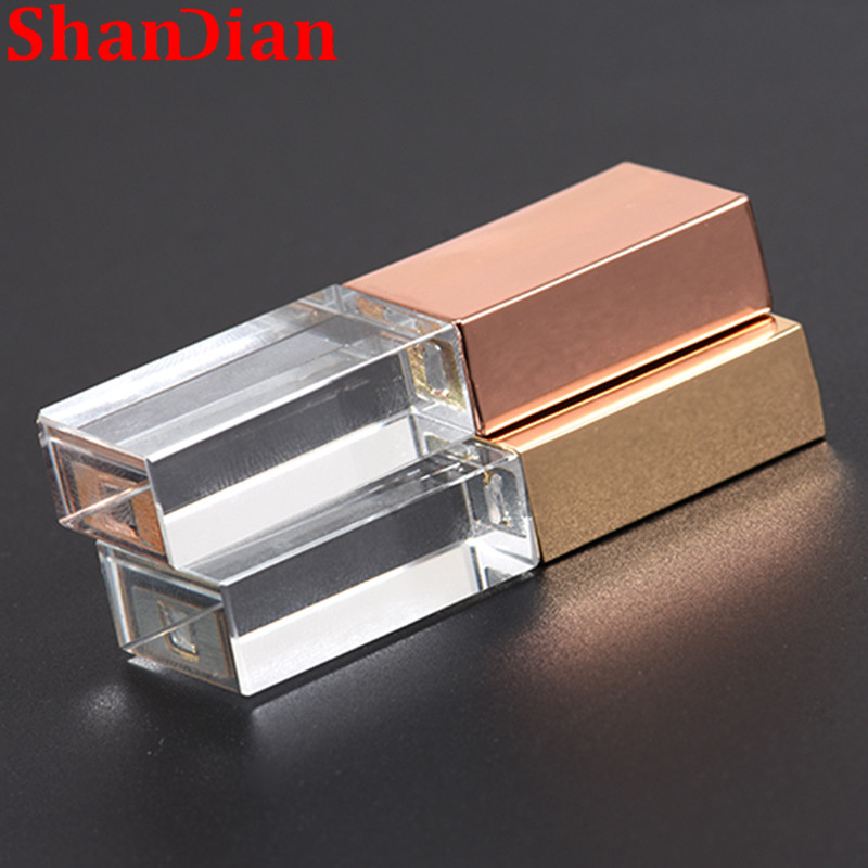 Knowledgeable Crystal Usb Sticks 3d Print Custom Logo 10pcs/lot 4gb 16ggb 32gb 64gb Usb Flash Pendrive Transparent Glass Relieving Rheumatism And Cold