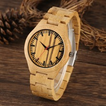 New Arrivals Fashion Bamboo Full Wood Watch Men Leisure Nature Handmade Wristwatches Quartz Movement Creative reloj madera mujer creative full natural wood male watches handmade bamboo novel fashion men women wooden bangle quartz wrist watch reloj de madera