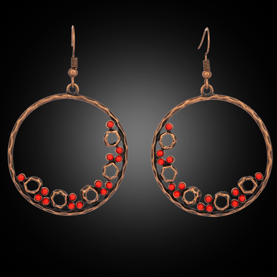 Vintage Déclaration Femmes Long Goutte Bois Cercle Boucles D/'oreilles Pour Femmes Bijoux Cadeaux