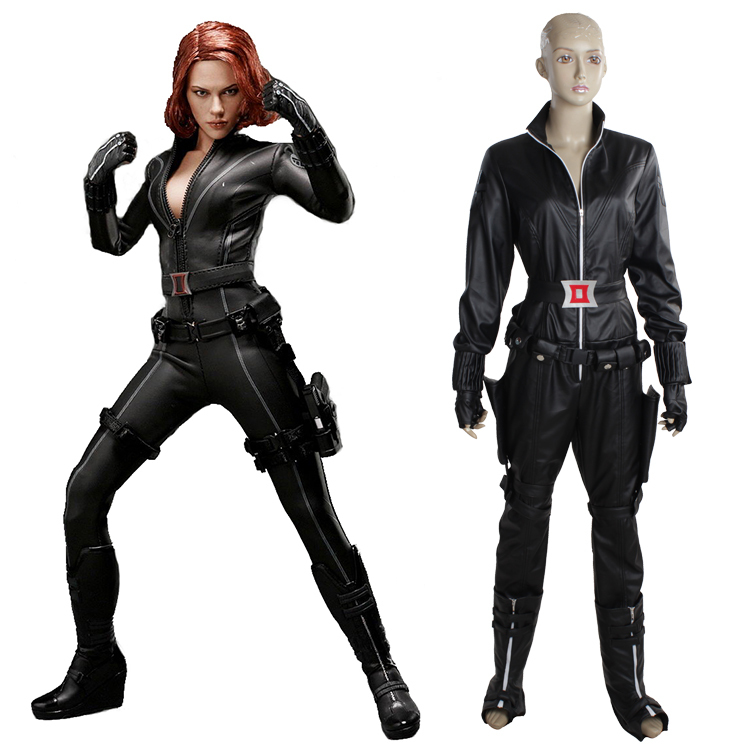 superhero series the avengers black widow costume underwear erotic leather sexy suit for women halloween costumes in movie tv costumes from novelty