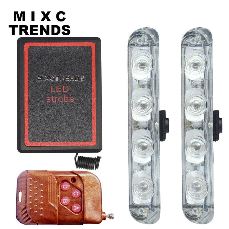 MIXC TRENDS Nové DC 12V LED Stroboskopické varování Policejní světlo Bezdrátové dálkové auto Truck Blikající Hasiči Světla Ambulance Denní světlo