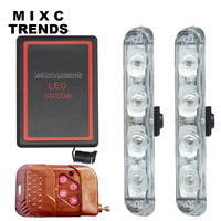 Mixc اتجاهات جديدة dc 12 فولت led ستروب أضواء تحذير الشرطة ضوء اللاسلكية النائية سيارة شاحنة اللمعان رجال الاطفاء الإسعاف اليوم ضوء