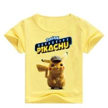 купить POKEMON T-Shirt for Children Boys Costume Cotton Summer T-shirt Cotton Fabric T-shirt for boys Kids Clothes Tops Quality T-shirt по цене 437.03 рублей