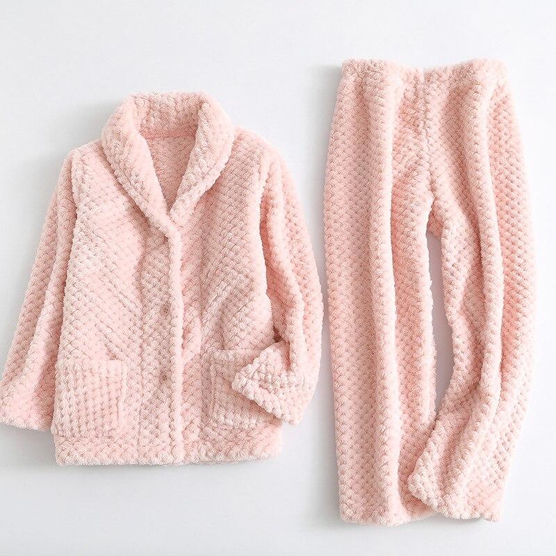 High Quality Winter Kids Pajamas Set Warm Flannel Sleepwear For Children Girls Thicken Pineapple Cashmere Clothing Set Big Boys