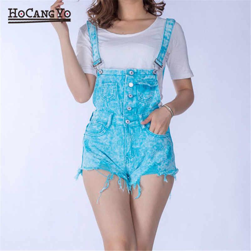 HCYO женские костюмы хлопковые джинсовые комбинезоны на лямках Шорты повседневные Комбинезоны для женщин комбинезоны с отверстиями спортивные костюмы модные спортивные костюмы