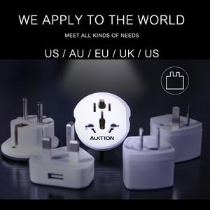 Image 5 - AUKTION 5Pcs/Lot 16A Universal EU(Europe) Converter Adapter 250V AC Travel Charger Wall Power Plug Socket Adapter For US UK AU