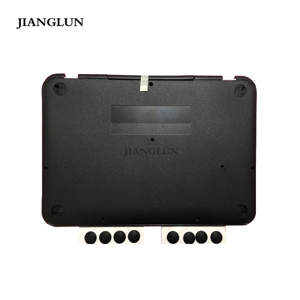 JIANGLUN For Lenovo N22 Chromebook Bottom Cover Black 5CB0L13240 with Handle & Foot Pad