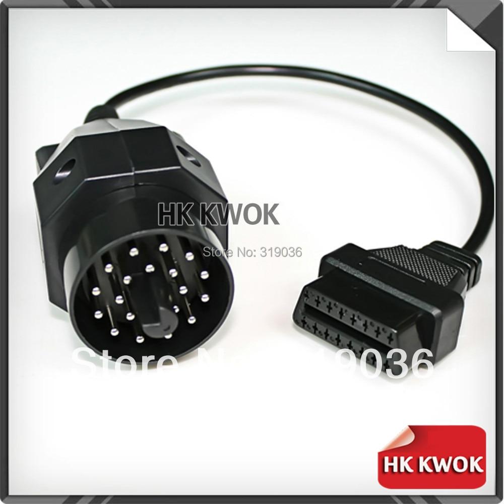 Aliexpress com buy for bmw 20 pin male to 16pin female obd2 cable car auto diagnostic connector adapter tool cable lead e36 e46 e38 e39 e53 x5 z3 from