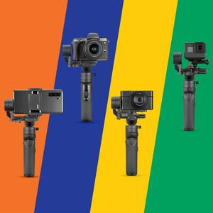 Image 2 - ZHIYUN Crane M2 , grúa oficial , estabilizador de mano para teléfono inteligente, cámaras de acción compactas sin Espejo, recién llegadas, Gimbals 500g