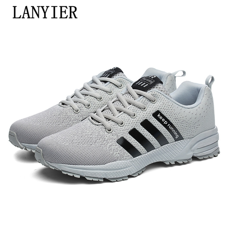 2017 Hot Casual Shoes Lovers Shoes Fly Weave Light Breathable Comfortable Fashion Male Shoes Plus Size For Men Autumn Summer
