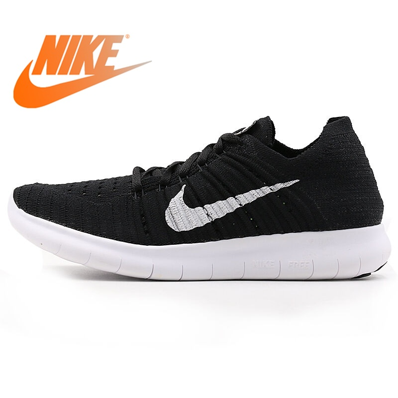 все цены на Original WMNS NIKE FREE RN FLYKNIT Women's Running Shoes New Lace-up Low-cut Breathable Wear-resistant Jogging Sports Sneakers