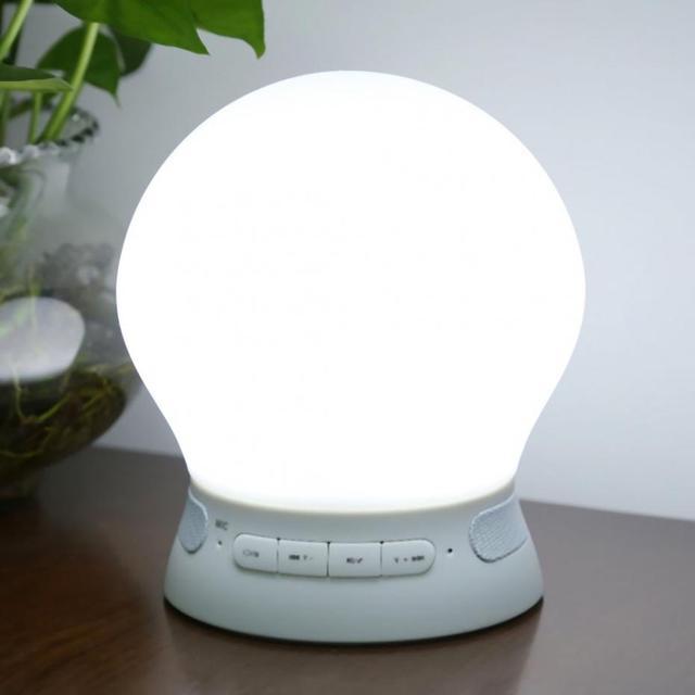Promoção! LED Luz Noturna Inteligente Lâmpada Falante Sem Fio Bluetooth 4.0 LEVOU Luz Mesa para Crianças Luzes Da Noite Da Lâmpada