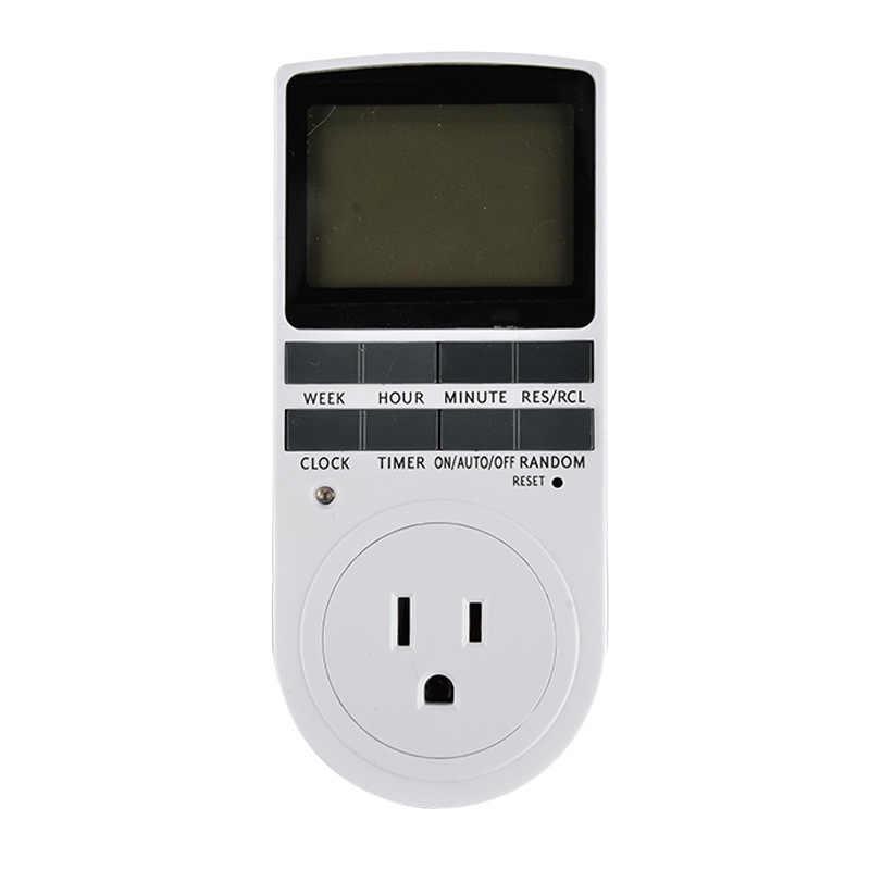 Цифровая розетка, измеритель мощности, таймер 120 В/60 Гц, таймер Kicthen, ЖК-дисплей, большой экран, вилка с 3-зубечным переключателем 15A/1800 Вт, измеритель мощности US