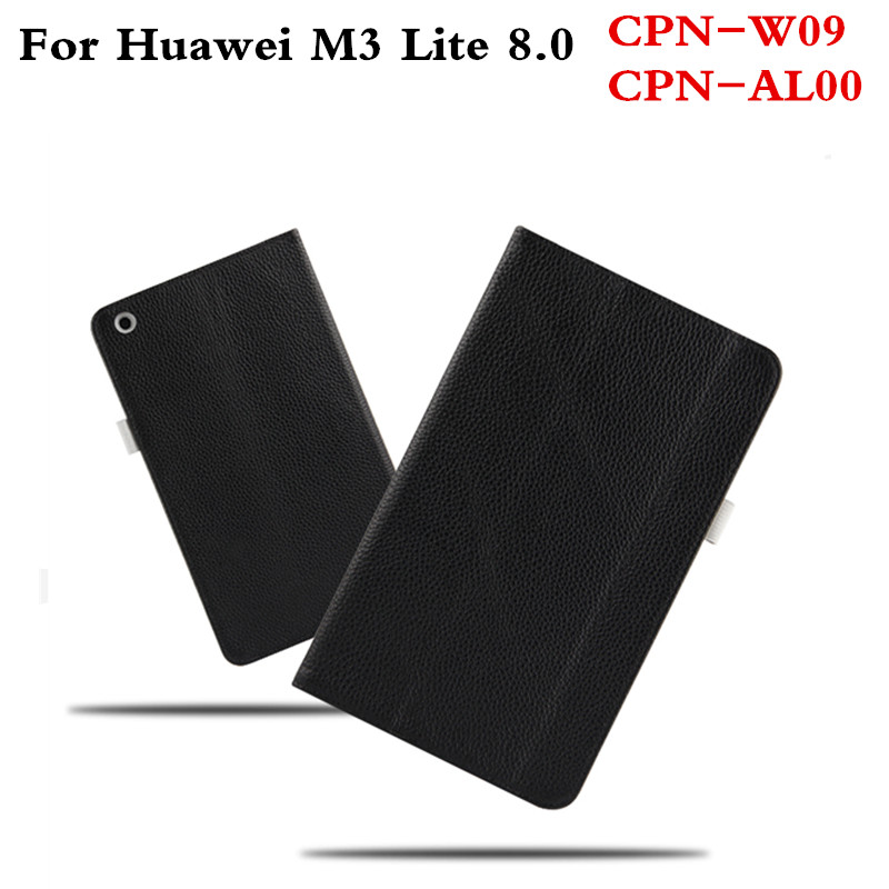 Business Genuine Leather Cover Slim Protective Book Case For Huawei MediaPad M3 Lite 8 8.0 inch CPN-W09 CPN-AL00 Tablet Cases for 2017 huawei mediapad m3 youth lite 8 cpn w09 cpn al00 8 tablet pu leather cover case free stylus free film