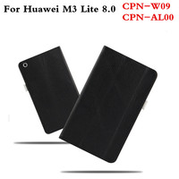 Business Genuine Leather Cover Slim Protective Book Case For Huawei MediaPad M3 Lite 8 8 0