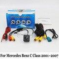 Para Mercedes Benz Clase C W203 2001 ~ 2007/HD CCD de Visión Nocturna Cámara de Visión trasera/Cableadas O Inalámbricas Hasta la Cámara de Marcha Atrás/RCA