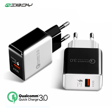 Quick Charge QC3.0 Mobile Phone Charger USB Travel Wall EU US Plug Charger Smartphone Fast Charging For iPhone Samsung Xiaomi LG usb charger eu us plug 3 ports quick charge fast charging mobile phone charger for iphone x samsung xiaomi huawei travel charger