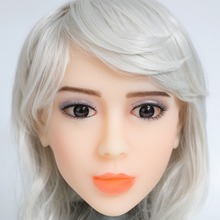 2017 Newest Top Quality Head 17# Big Doll's Head Natural Skin Sex Doll Head for Silicone Sex Doll Suit For More Than 140cm Doll