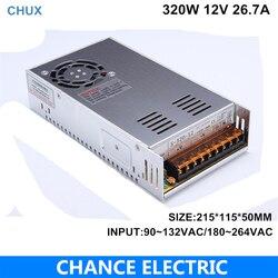 320W alimentation à découpage sortie unique 12V 26.7a ac/dc entrée pour CNC lumière LED vente directe 301-400 W (S-320W-12V)