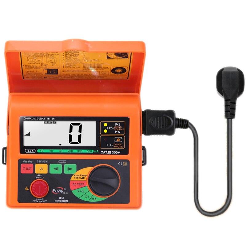 Testeur de commutateur de fuite capteur intelligent SW5406 numérique RCD ELCB testeur de courant de fuite Test 10/20/30/200/300/500mA