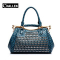 top quality designer pu leather rivet handbag luxury women bags female shoulder bag famous brand ladies tote messenger hand bags