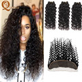 8A Ear to Ear Brazilian Virgin Hair Water Wave Lace Frontal Closure With Bundles Mink Brazilian Water Wave Frontal With Bundles