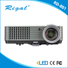Envío gratis 2000 Lumen Proyector RD801 Mini LED Proyector Portátil Proyector De Cine En Casa HDMI VGA TV USB AV