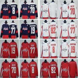 17bc7bdb7 Dwayne hockey jerseys #8 Alex Ovechkin 19 Nicklas Backstrom 70 Braden  Holtby 77