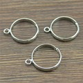 WYSIWYG, 10 шт., простое регулируемое основание для кольца из меди цвета родия с одной подвеской, фурнитура для ювелирных изделий своими руками